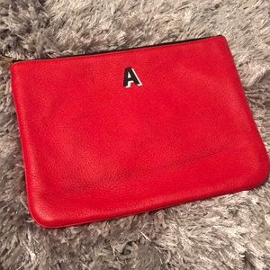"""Rebecca Minkoff """"A"""" Jody Pouch Red Large"""